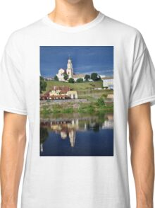 The old European city on the river bank. Classic T-Shirt
