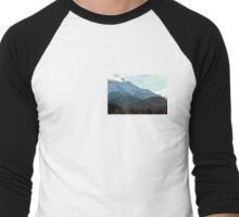 Mt Hood Color Men's Baseball ¾ T-Shirt