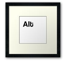 Alt Keyboard Laptop Computer Framed Print