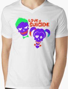 Love is Suicide Mens V-Neck T-Shirt