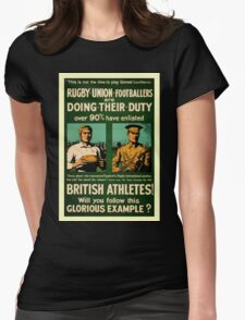 British rugby, football players call for duty Womens Fitted T-Shirt