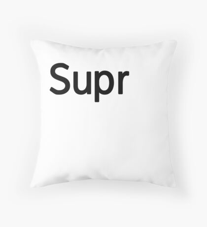 Supr Keyboard Laptop Computer Throw Pillow