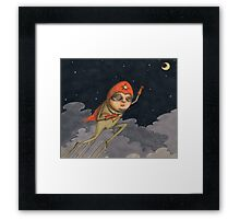 Captain Enthusiasm Framed Print