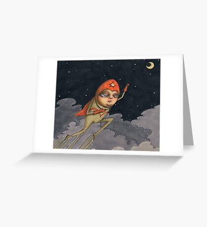 Captain Enthusiasm Greeting Card