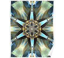 Abstract Earth Tones Emblem Poster