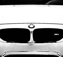 F82 in black and white Sticker
