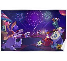 Animal Jam Fireworks Poster Poster