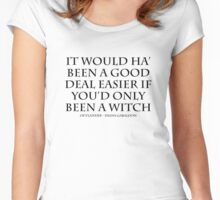 Outlander - Witch Quote BLACK Women's Fitted Scoop T-Shirt