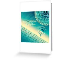 arrow motion with Business background Greeting Card