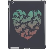 Bat Heart; blue/pink ombre iPad Case/Skin