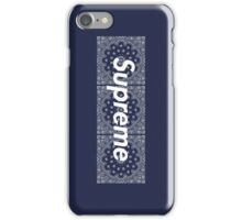 Supreme Navy Bandana Media Cases, Pillows, and More. iPhone Case/Skin