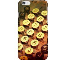Antique Adding Machine Keys - photography iPhone Case/Skin