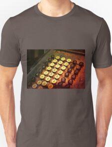Antique Adding Machine Keys - photography T-Shirt