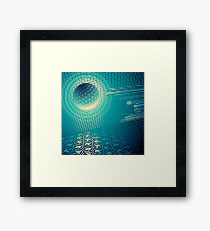 arrow motion with Business background Framed Print