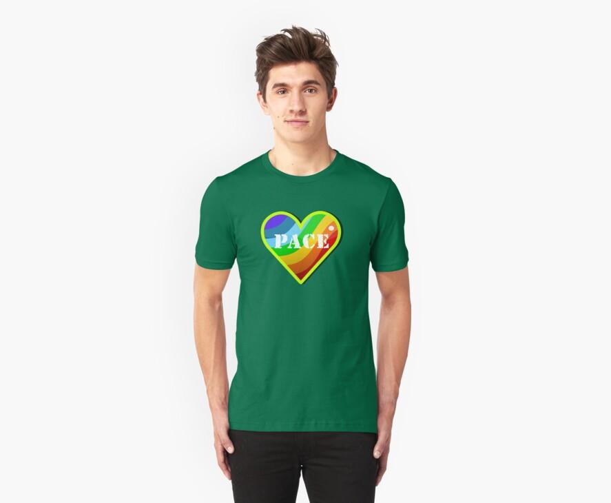 Peace Rainbow Heart VRS2 by vivendulies
