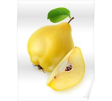 Quince fruit Poster