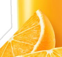 Glass of orange juice Sticker