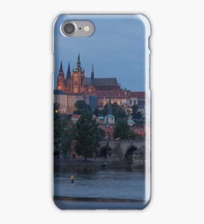 Prague Castle and Vltava River iPhone Case/Skin