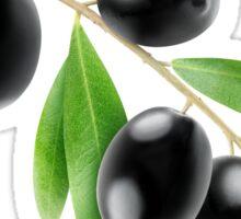 Black olives branch Sticker