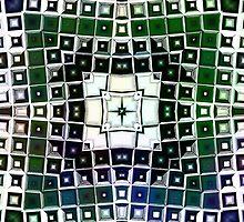Warped Chrome Compass by Shawna Rowe