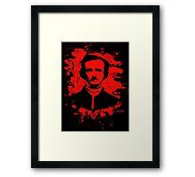 Edgar Allan Poe Tribute (red) Framed Print