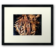 Frying Chicken Feet Framed Print
