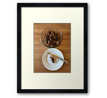 Chinese Spicy Chicken Feet Framed Print