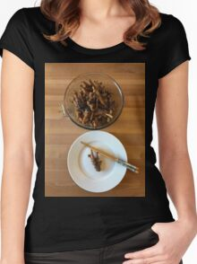 Chinese Spicy Chicken Feet Women's Fitted Scoop T-Shirt