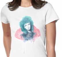 Inspired by the Rockabilly 50s - Turquoise Haired Girl  Womens Fitted T-Shirt