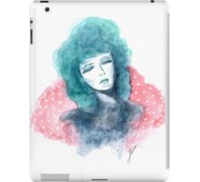 Inspired by the Rockabilly 50s - Turquoise Haired Girl  iPad Case/Skin