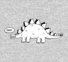 Cartoon Stegosaurous One Piece - Long Sleeve