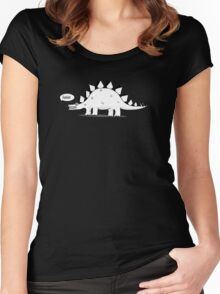 Cartoon Stegosaurus Women's Fitted Scoop T-Shirt