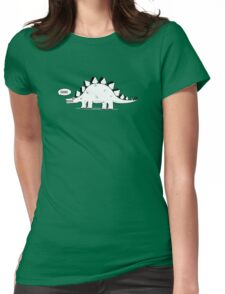 Cartoon Stegosaurus Womens Fitted T-Shirt