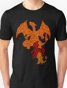 Evolution of Charmander Mosaic T-Shirt