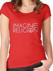 Imagine No Religion  Women's Fitted Scoop T-Shirt