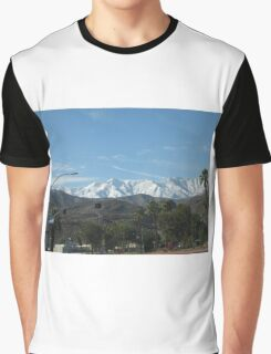 CONTRASTING MOUNTAIN VIEWS Graphic T-Shirt