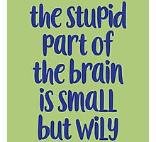 The stupid part of the brain Photographic Print