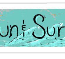 Sun and Surf  Sticker