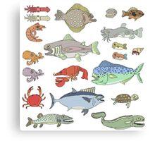 Seafood Buffet Canvas Print