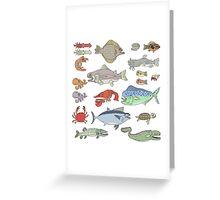 Seafood Buffet Greeting Card