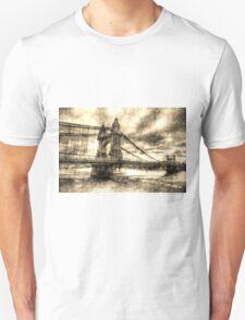 Hammersmith Bridge London Vintage Unisex T-Shirt