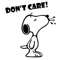"""Snoopy """"Don't Care!"""" Photographic Print"""
