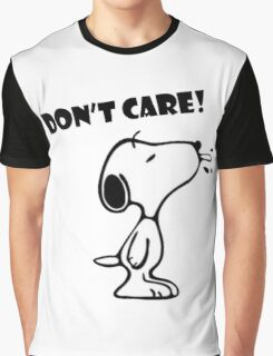 "Snoopy ""Don't Care!"" Graphic T-Shirt"