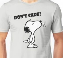 "Snoopy ""Don't Care!"" Unisex T-Shirt"