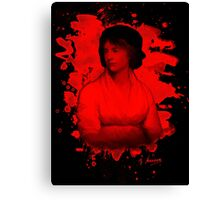 Mary Shelley (Wollstonecraft) Tribute (red) Canvas Print