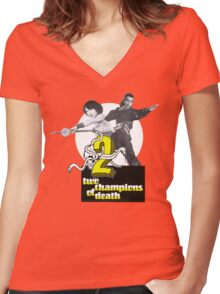 Champions of Death Women's Fitted V-Neck T-Shirt