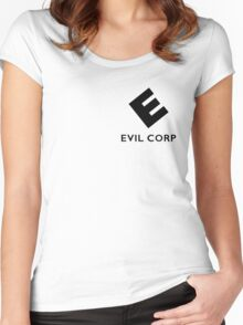 Evil corp Women's Fitted Scoop T-Shirt