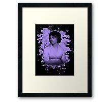 Mary Shelley (Wollstonecraft) Tribute (violet) Framed Print
