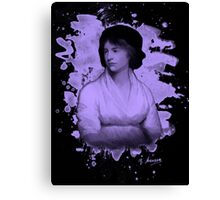 Mary Shelley (Wollstonecraft) Tribute (violet) Canvas Print
