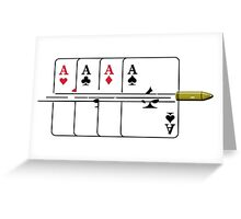 Shoot the Deck of Cards VRS2 Greeting Card